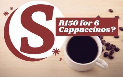 Saving R150 per month.